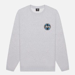 Мужская толстовка Stussy Cross Dot Crew Ash Heather