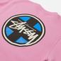Мужская толстовка Stussy Cross Dot Crew Pink фото - 2