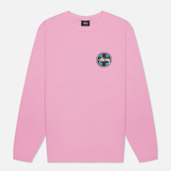 Мужская толстовка Stussy Cross Dot Crew Pink