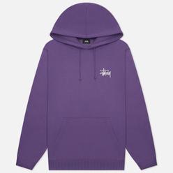 Мужская толстовка Stussy Basic Hoodie Purple