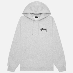 Мужская толстовка Stussy Peace And Love Hoodie Ash Heather
