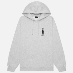 Мужская толстовка Stussy King Raggamuffin Hoodie Ash Heather