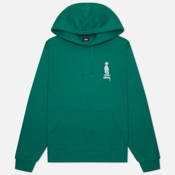 Мужская толстовка Stussy King Raggamuffin Hoodie Dark Green