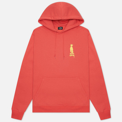 Мужская толстовка Stussy King Raggamuffin Hoodie Pale Red