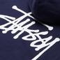 Мужская толстовка Stussy Basic Stussy Signature Logo Hoodie Navy фото - 2