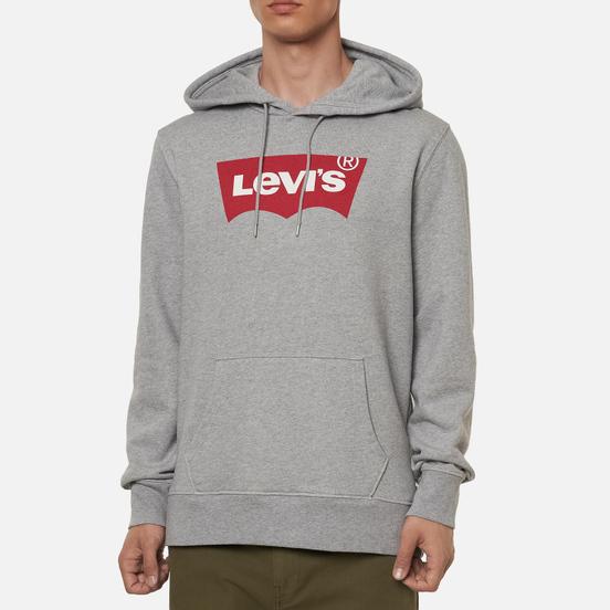 Мужская толстовка Levi's Graphic Hoodie Midtone Heather Grey