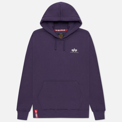 Мужская толстовка Alpha Industries Basic Small Logo Hoody Night Shade
