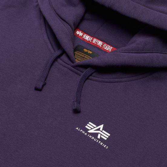 Мужская толстовка Alpha Industries Basic Small Logo Hoody Night Shade