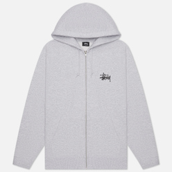 Мужская толстовка Stussy Basic Zip Hoodie Ash Heather