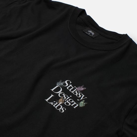 Мужской лонгслив Stussy Design Labs Pigment Dyed Black