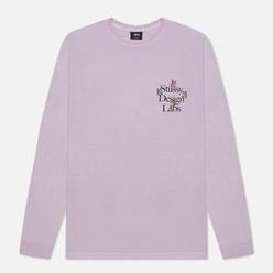 Мужской лонгслив Stussy Design Labs Pigment Dyed Lavender