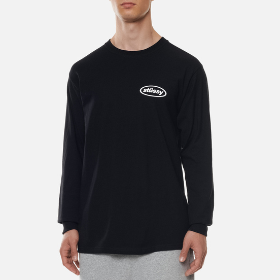 Мужской лонгслив Stussy LS Paint Can Black