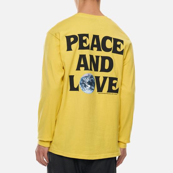 Мужской лонгслив Stussy Peace And Love Lemon