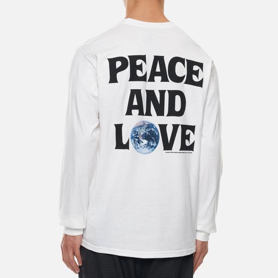 Мужской лонгслив Stussy Peace And Love White
