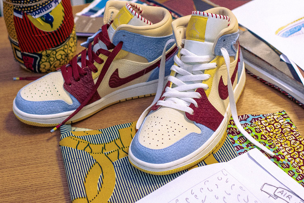 Air Jordan 1 Mid SE × Maison Chateau Rouge: дух Африки