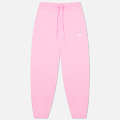 Женские брюки MSGM Micrologo Basic Unbrushed Pink/White