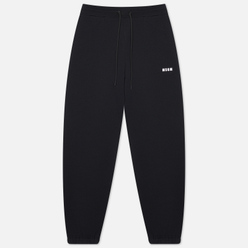 Женские брюки MSGM Micrologo Basic Unbrushed Black/White