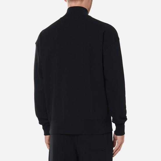 Мужская толстовка MSGM Micrologo Basic Unbrushed High Collar Black/White