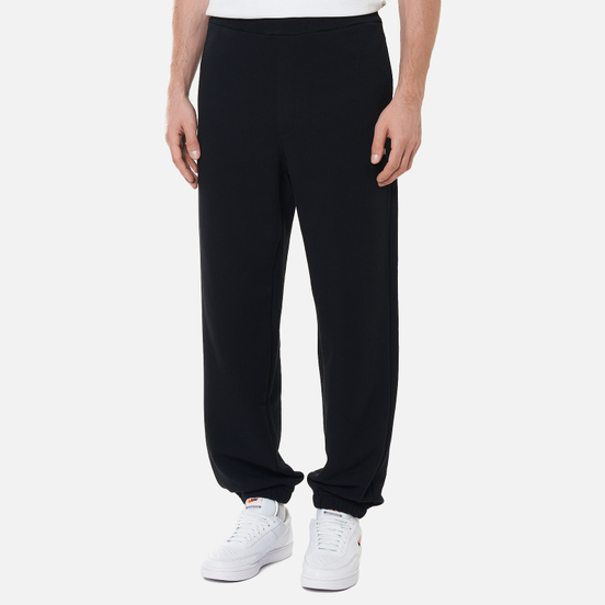Мужские брюки MSGM Micrologo Basic Unbrushed Black/White