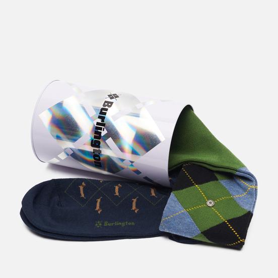 Комплект носков Burlington 2-Pack Gift Navy/Green