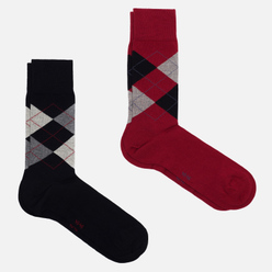 Комплект носков Burlington Basic 2-Pack Black/Red