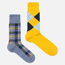 Комплект носков Burlington Fashion 2-Pack Yellow/Grey
