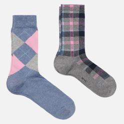 Комплект носков Burlington Fashion 2-Pack Blue/Grey