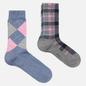Комплект носков Burlington Fashion 2-Pack Blue/Grey фото - 0