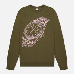 Мужская толстовка Alltimers Big Face Crew Army Green