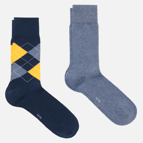 Комплект носков Burlington Everyday 2-Pack Navy/Blue