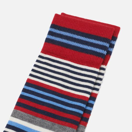 Носки Burlington Stripe Pattern Gray/Blue/Red