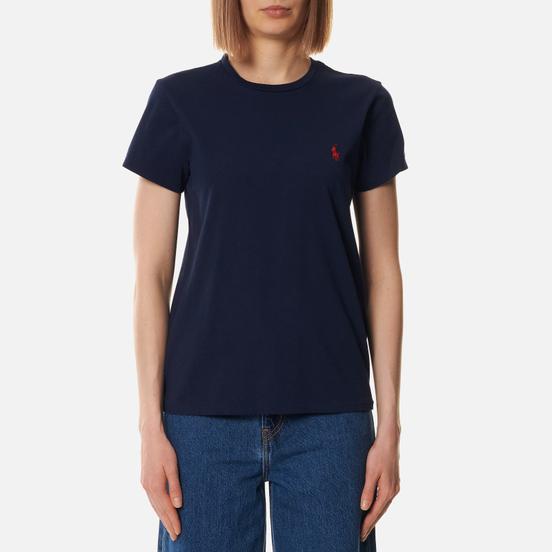 Женская футболка Polo Ralph Lauren Embroidered Logo 30/1 Cotton Jersey Cruise Navy