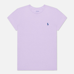 Женская футболка Polo Ralph Lauren Embroidered Logo 30/1 Cotton Jersey English Lavender