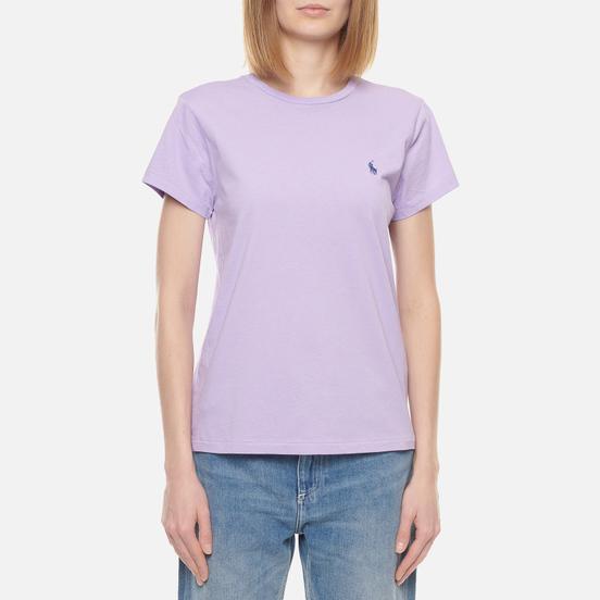 Женская футболка Polo Ralph Lauren Embroidered Logo 30/1 Cotton Jersey English Lavender