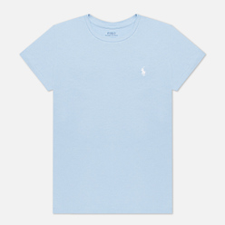 Женская футболка Polo Ralph Lauren Embroidered Logo 30/1 Cotton Jersey Estate Blue