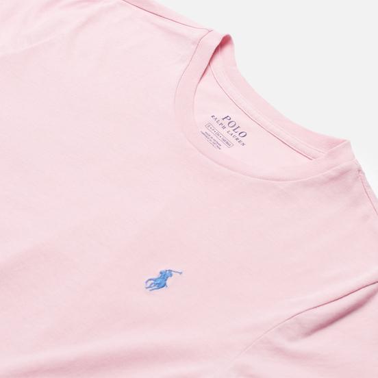 Женская футболка Polo Ralph Lauren Embroidered Logo 30/1 Cotton Jersey Garden Pink