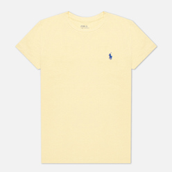 Женская футболка Polo Ralph Lauren Embroidered Logo 30/1 Cotton Jersey Banana Peel