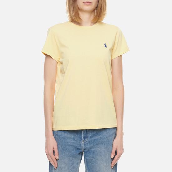 Женская футболка Polo Ralph Lauren Embroidered Logo 30/1 Cotton Jersey Banana Peel