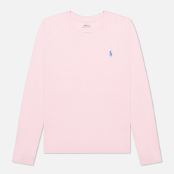 Женский лонгслив Polo Ralph Lauren Crew Neck 30/1 Cotton Jersey Garden Pink