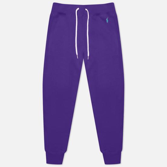 Женские брюки Polo Ralph Lauren Polo Pony Mini Logo Ankle Featherweight Fleece Purple Rage