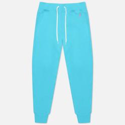 Женские брюки Polo Ralph Lauren Polo Pony Mini Logo Ankle Featherweight Fleece Perfect Turquoise