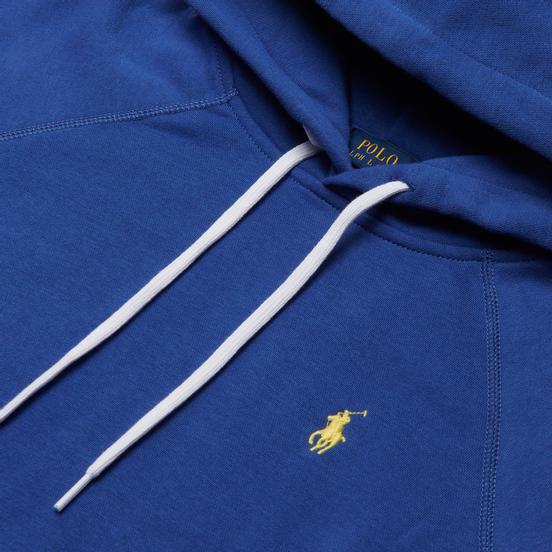 Женская толстовка Polo Ralph Lauren Polo Pony Mini Logo Hoodie Featherweight Fleece Royal Navy