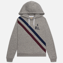 Женская толстовка Polo Ralph Lauren Two Stripe R.L. Hoodie Featherweight Fleece Dark Vintage Heather