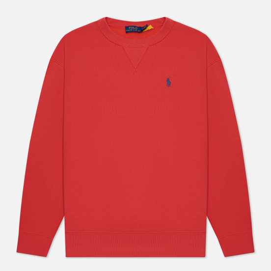 Женская толстовка Polo Ralph Lauren Embroidered Pony Crew Neck Spring Red
