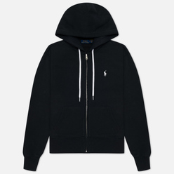 Женская толстовка Polo Ralph Lauren Full-Zip Fleece Hoodie Black