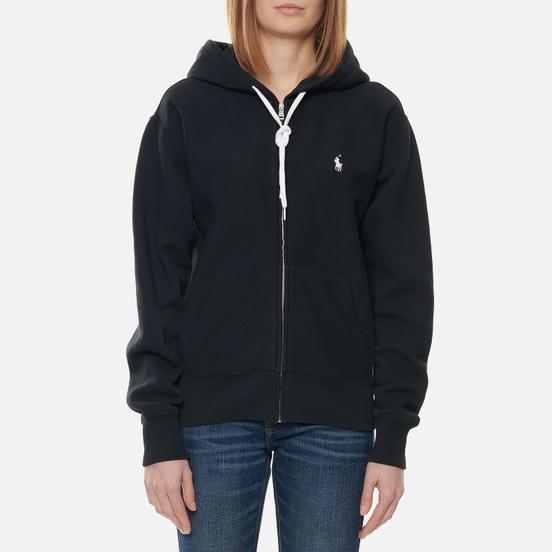Женская толстовка Polo Ralph Lauren Full-Zip Fleece Hoodie Black