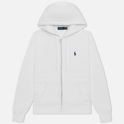 Женская толстовка Polo Ralph Lauren Full-Zip Fleece Hoodie White