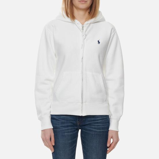 Женская толстовка Polo Ralph Lauren Full-Zip Fleece Hoodie White