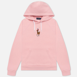 Женская толстовка Polo Ralph Lauren Big Pony Embroidered Hoodie Resort Pink
