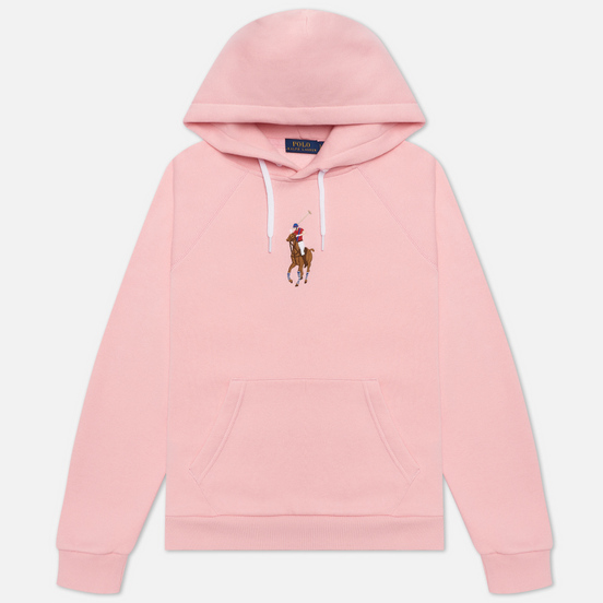 Женская толстовка Polo Ralph Lauren Big Pony Embroidered Hoodie Resort Pink